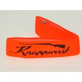 Hutband Knappworst neon-orange